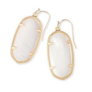 Kendra Scott Pearl White Earrings